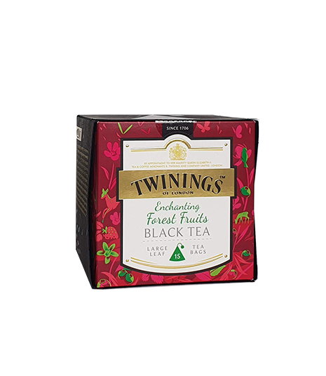 Té Negro Forest Fruits Twinings caja X15 bolsa