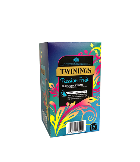 Té Negro Passion Fruit Twinings caja X15 bolsa